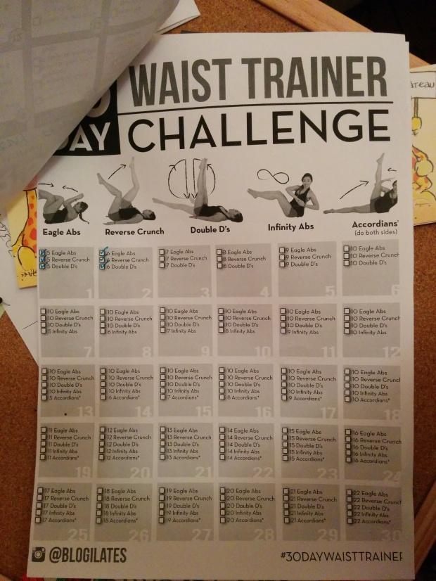 30 day waist trainer day 2